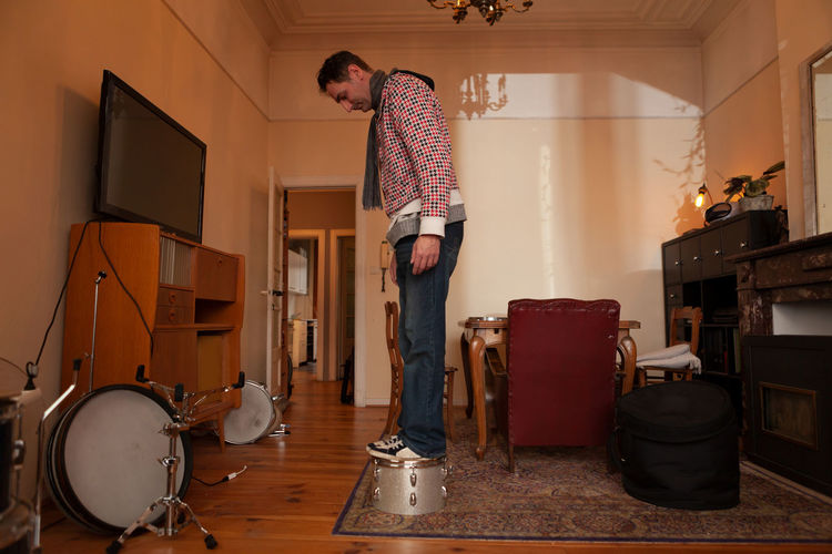 Man standing at home