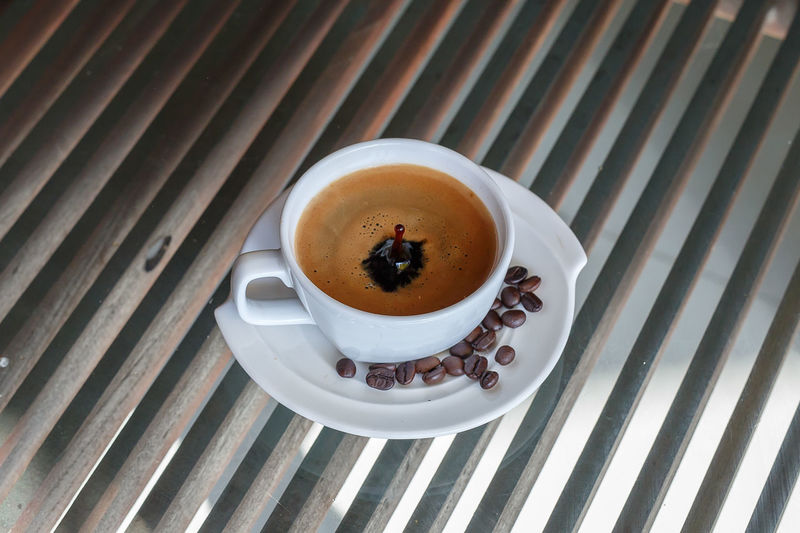 Close-up Coffee - Drink Coffee Cup Day Drink Food Food And Drink Freshness High Angle View Indoors  No People Refreshment Saucer Table
