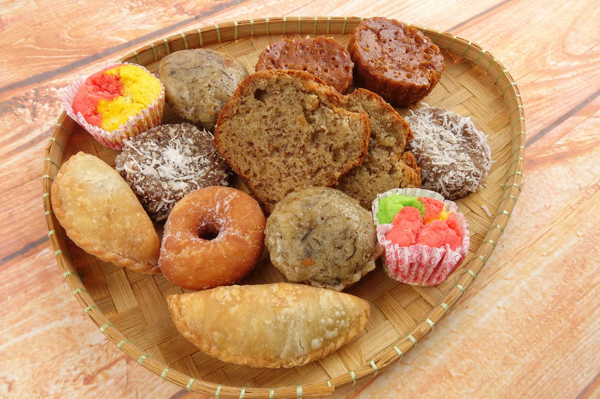 ASIA TRADITIONAL DESERT ON WOODEN BACKGROUND ASIA Dinner Eid Mubarak Iftar Malaysian Food Close-up Fasting Food Food And Drink Freshness Indoors  No People Ramadan Kareem Ready-to-eat Traditional