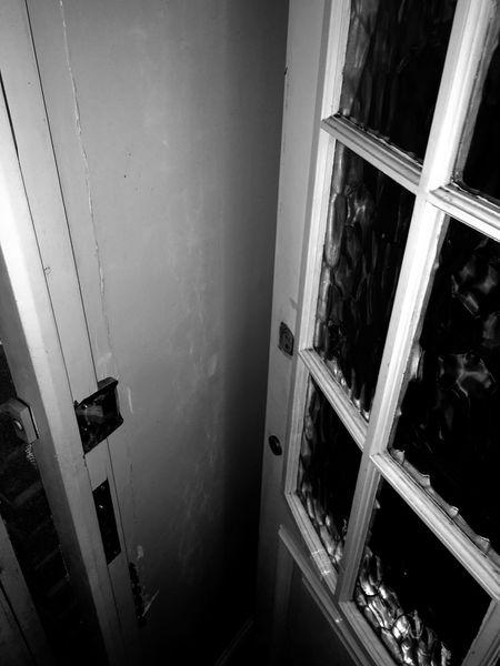 Black and white Door spooky