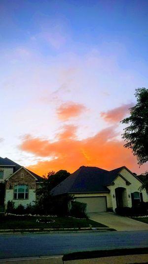 Red skies in