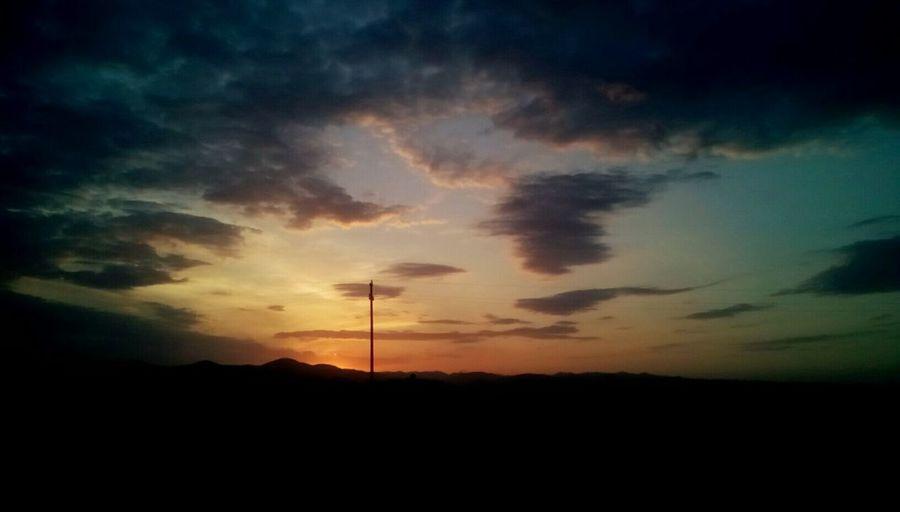 Sunset Sky Rural Scene