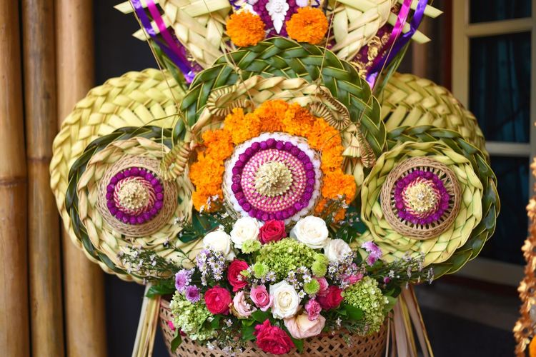 balinese decoration Flower Multi Colored Easter Celebration Ornate Tradition Cultures Decoration Close-up Floral Pattern Blooming Design Craft Product Handmade EyeEmNewHere A New Beginning