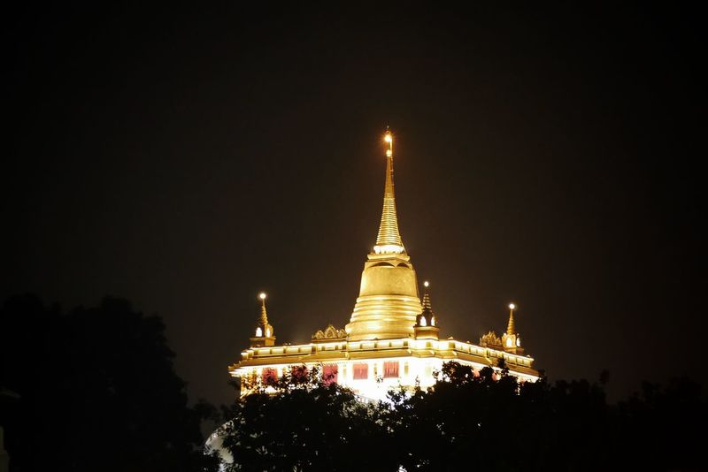 Night Architecture Pagoda Religion Ancient Business Finance And Industry Travel Gold Colored Travel Destinations Arts Culture And Entertainment Gold Spirituality No People Illuminated Outdoors Statue Sky Nature Tree EyeEm ThaiFood EyeEm Thailand Thailand Photos Travel Thailand
