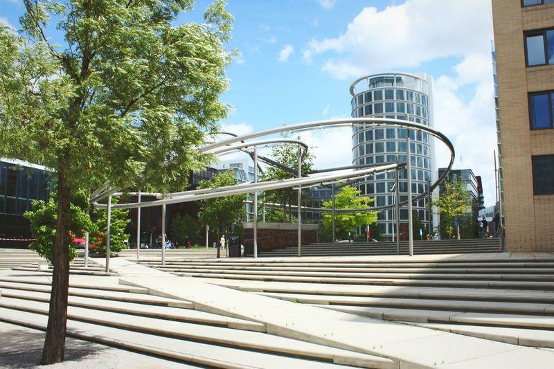 Holidays Hamburgcity Taking Photos Walking Around Architecture Trees And Sky Buildings Stairs Niceweather Niceplace