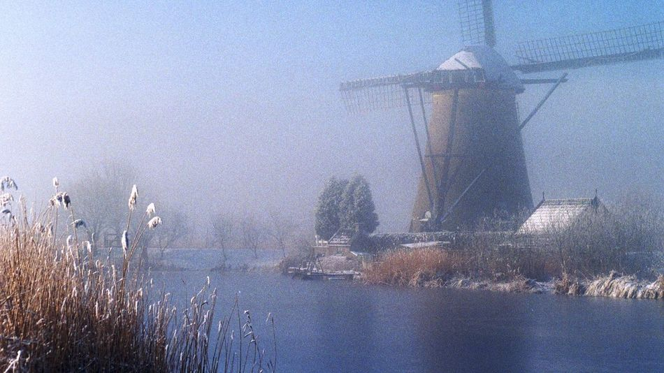 Windmill Wintertime Pastel Melancholy Beautiful Day Cold Winter ❄⛄ Analogue Photography Holland Hindeeer Request