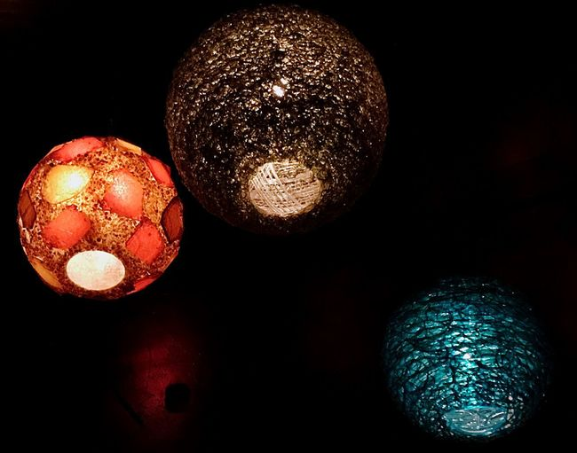Illuminated Sphere Decoration Lighting Equipment No People Indoors  Night Low Angle View Light Group Of Objects