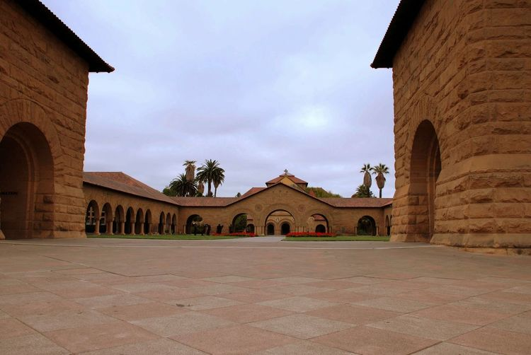 Arch Arches Architecture Building Exterior Built Structure California College Cross Early Morning Façade Higher Education Historic History Old Plaza Public Religion School Spanish Architecture Stanford Stanford University University University Campus