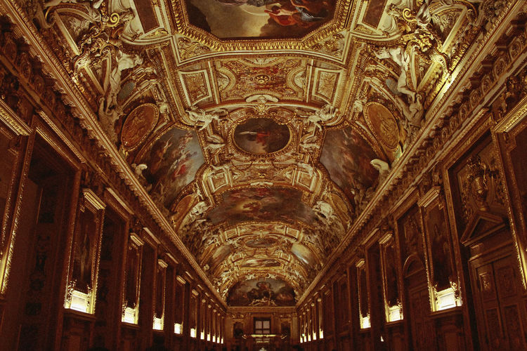 Musée du Louvre, 2018 Architecture Louvre Arch Architectural Column Architecture Architecture And Art Art Art And Craft Belief Building Built Structure Ceiling Fresco History Illuminated Indoors  Low Angle View Mural Museum No People Ornate Pattern Religion The Past Travel Destinations