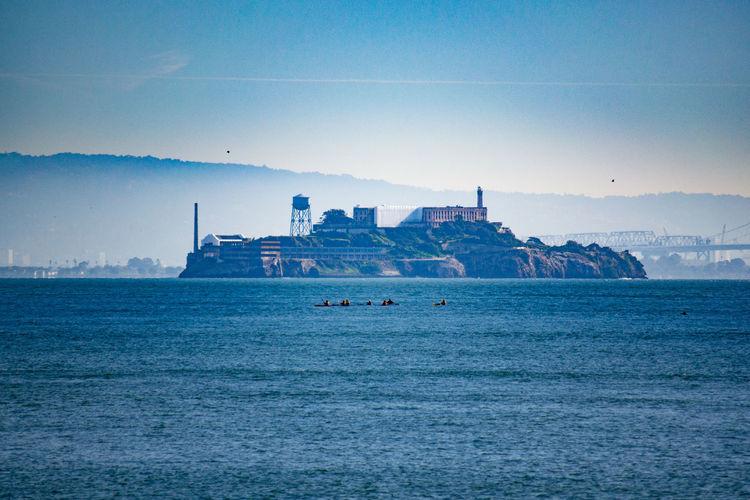 Alcatraz Island (Prison) San Francisco, CA Alcatraz Alcatraz Island Famous Place Fog Foggy Morning Historic Places Jail Landmark Prison Sea Water Waterfront