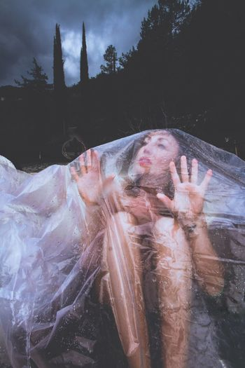 The Portraitist - 2017 EyeEm Awards First Eyeem Photo Real People One Person Lifestyles Outdoors Wet Day Water Women Tree Young Adult Sky People