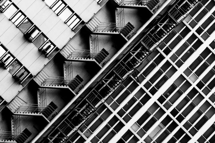 Tilt Image Of Steps In Building
