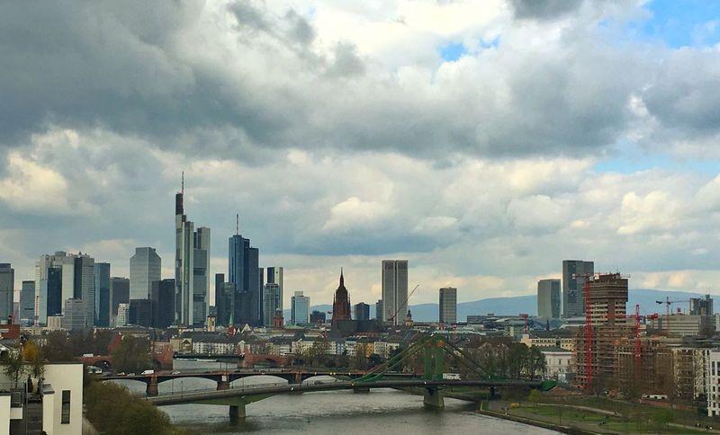 Frankfurt Am Main Mainhattan Skyline Skyscraper Wolkenkratzer