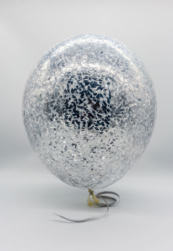Close-up of bubbles against white background