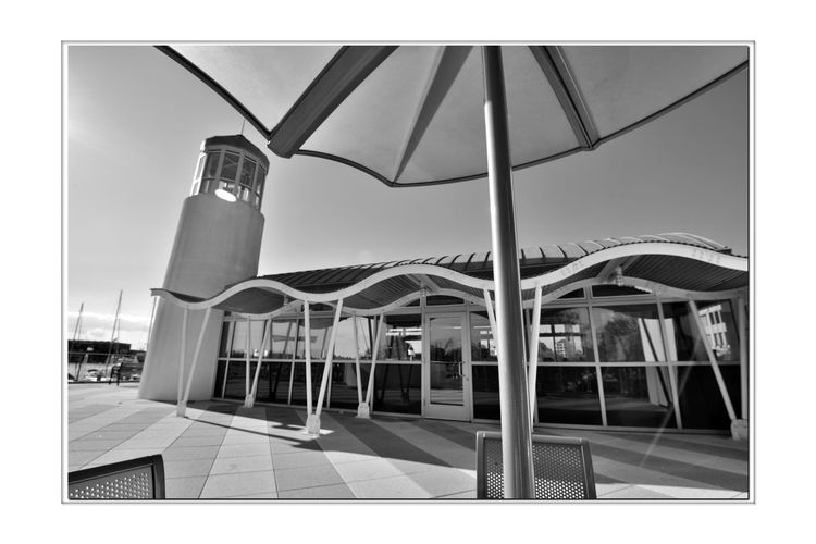 Observation Deck 4 Jack London Square Marina Port Of Oakland, Ca Architecture Lookout Deck Architectural Detail Nautical Theme Lighthouse Monochrome_Photography Monochrome Black & White Black & White Photography Black And White Black And White Collection  Architecture_collection Reflections Glass Reflections In The Windows Reflected Glory