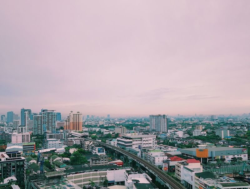 Bangkok Thailand. BTS Building Exterior Built Structure Architecture Cityscape City Sky High Angle View Skyscraper No People Outdoors Urban Skyline Day Nature After The Rain Over The Rainbow Freedom Free Fresh Alive