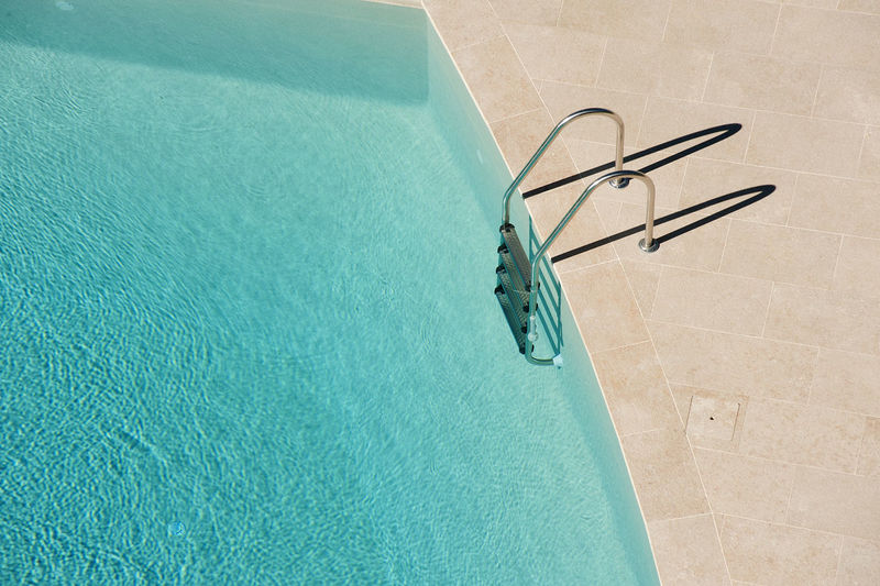 Blue Close-up Day Ladder Luxurylifestyle  No People Outdoors Relax Summer Sunny Swimming Pool Water