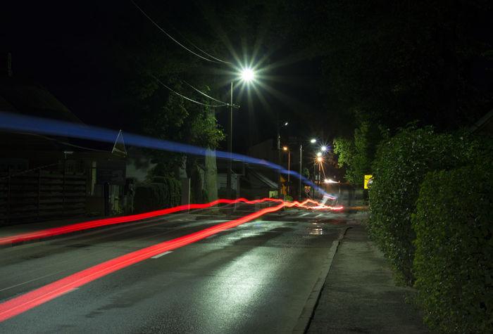 Car Lights City City Street Car Lights At Night Illuminated Light Trail Long Exposure Night No People Outdoors Police Car Lights Road Speed Street Street Light The City At Night Traffic Lights Transportation