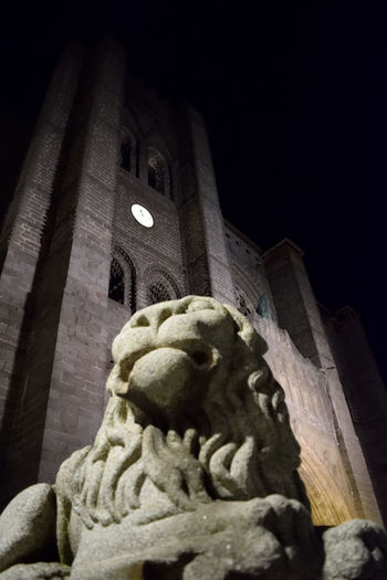 Av City Gothic Lion Night SPAIN Street Streetphotography