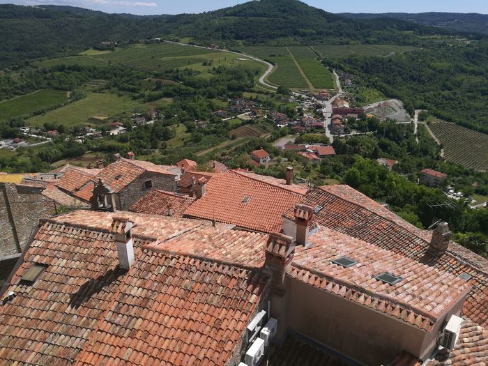 Rooftops Croatia Istria Croatiafullofnature Motovun EyeEm Selects Agriculture High Angle View Mountain Architecture Landscape