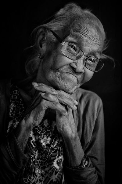 My Grandmother Happy Old Grandparent One Person Indoors  Studio Shot Night Close-up Portrait People
