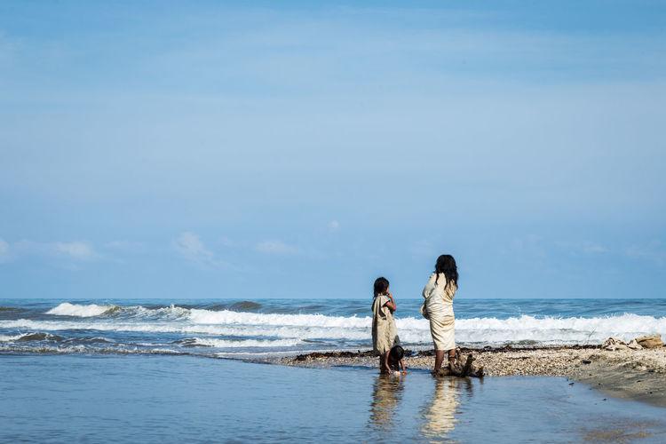 Beach Beauty In Nature Females Horizon Horizon Over Water Land Lifestyles Nature Real People Sea Sky Water Women