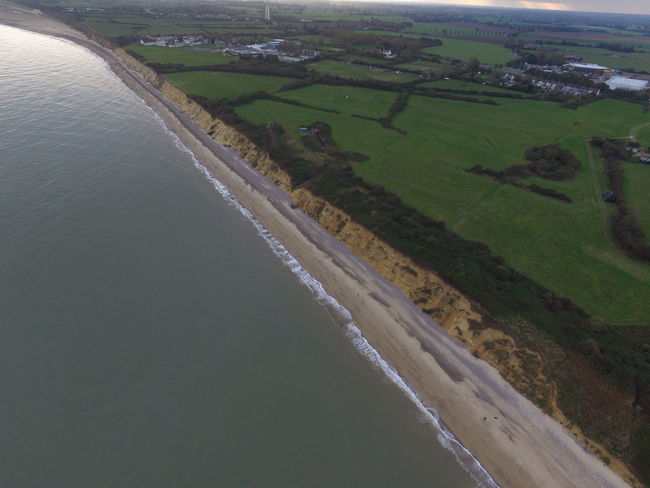 Aerial Shot Aerial View Beach Cliffs Coast Drone  Drone Photography Lowestoft Pakefield Sea
