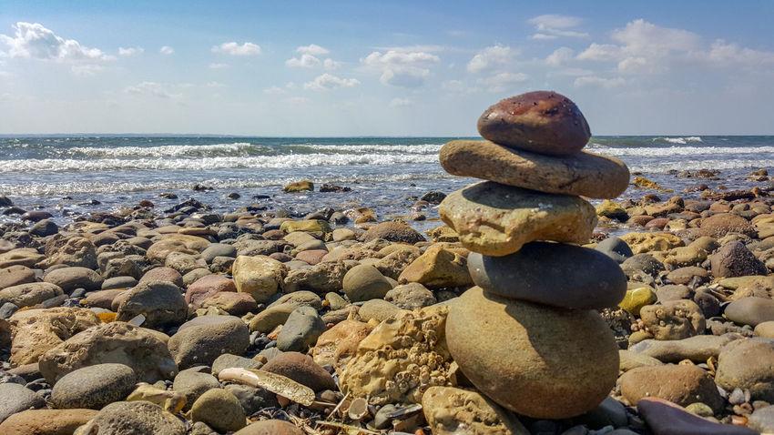 ein muss 😊 Samsung S6edge Photography Water Sea Beach Sand Stack Pebble Rock - Object Sky Horizon Over Water Cloud - Sky