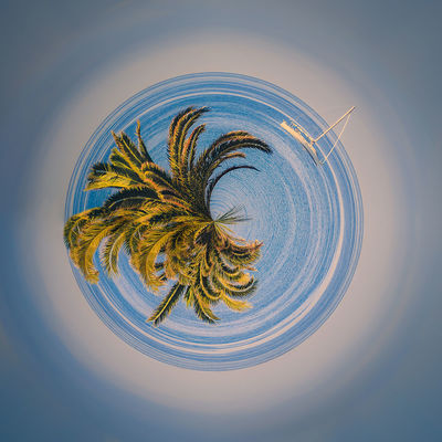 Little Planet Fuerteventura Canary Islands Fuerteventura Holiday Holidays Little Planet Lonely Nature Travel Day Geometry Lakescape Landscape Little Planet Panorama No People Outdoor Outdoors Round Circles Sailing Boat Seaside Sky Square Shot Travel Destination
