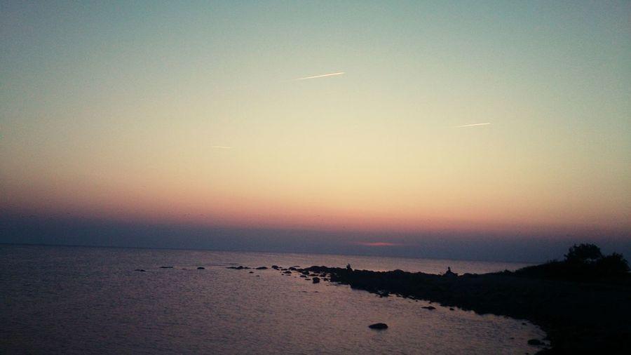 Sunset Sea Hamn Gotland