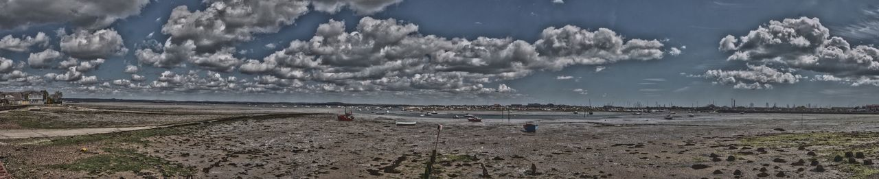 Panoramic HDR photograph of Langstone Harbour. HDR Panorama Panoramic Landscape Panoramic Langstone Harbour  Harbour View Sea Hampshire  England