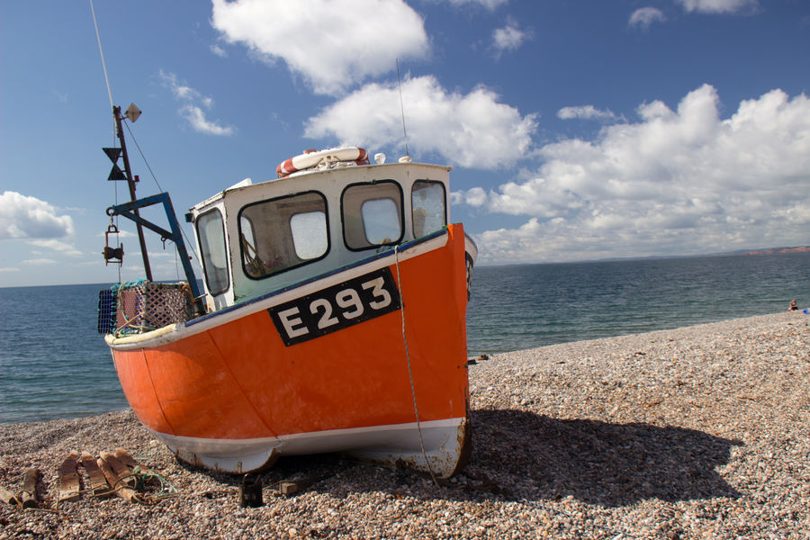 waiting for the seafarer´s return Branscombe Orange Beach Beauty In Nature Cloud - Sky Day Horizon Over Water Nature On Land Outdoors Scenics Sea Serene Ship Sky Transportation Vessel Water