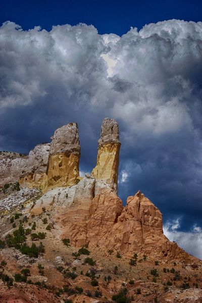 Beauty In Nature Cloud - Sky Day Geology Georgia Okeefe Ghost Ranch  Landscape Low Angle View Nature No People Outdoors Physical Geography Rock - Object Rock Formation Rock Hoodoo Scenics Sky Tranquil Scene Tranquility Travel Destinations