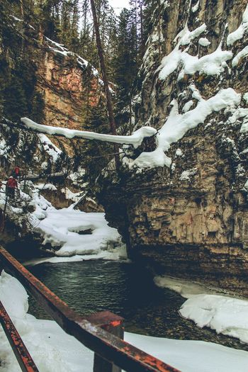 Banff National Park  Johnson Canyon Snow