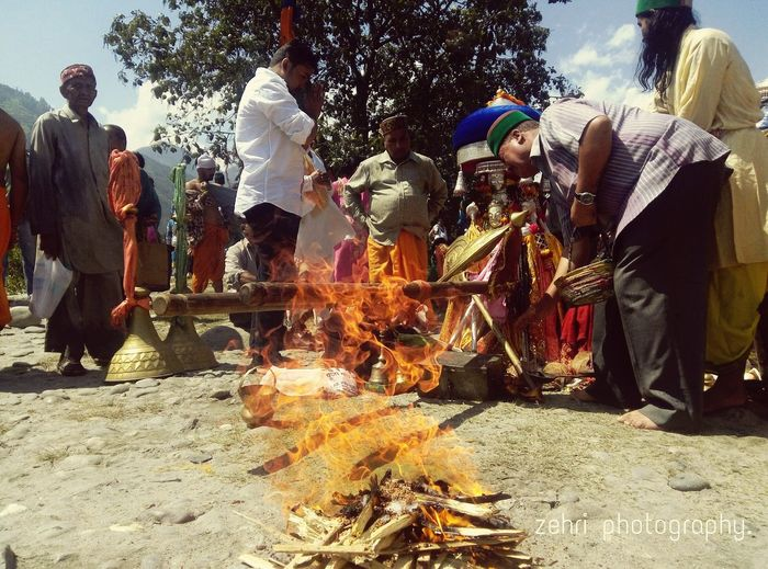 The Rituals of Himalayas... Devotion is the Key of Spiritual Growth.... Bhunter,Kullu Himachal Pradesh. Bees Bhado The Day For Holy Dip.... SanGam Of Beas & Parvati Rivers