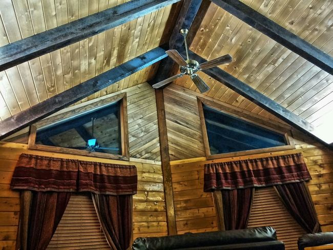 Geometric Shapes Too Tired To Get Up Night Long Day Check This Out Cool Log Cabin Indoor Inside Fan