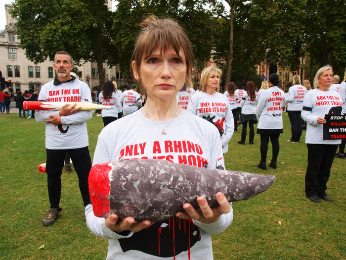 London GMFER Silent Protest. Demanding action for elephants. Parliament Green London, 07/10/2017 #actionforelephants Action For Elephants Endangered Species GMFER Olympus Photojournalism Protest Steve Merrick Environmental Conservation Ivory Trade London News News Stevesevilempire Zuiko