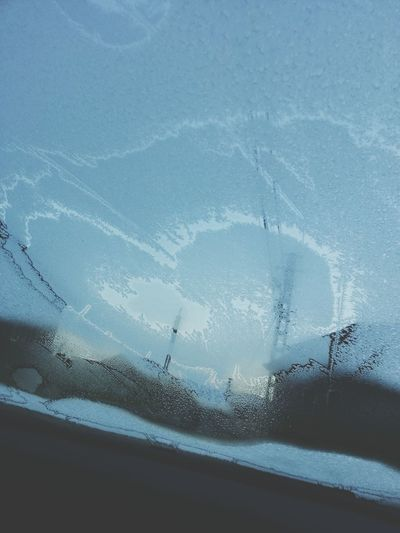 Can you see it? Yes,it's a heart :D Heart Glass Cold Days Frozen
