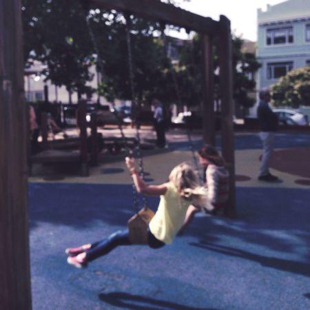Enjoying Life Hipstamatic Having Fun Swinging Kids Being Kids