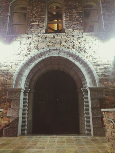 Architecture Built Structure Building Exterior Door Arch Entrance Closed Window Doorway Façade Entryway History Day Outdoors Stone Material Medieval Arched Archway Travel Arizona Irish Cultural Center