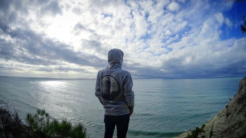 Sky And Clouds Sky Sea Horizon Over Water Horizon One Person One