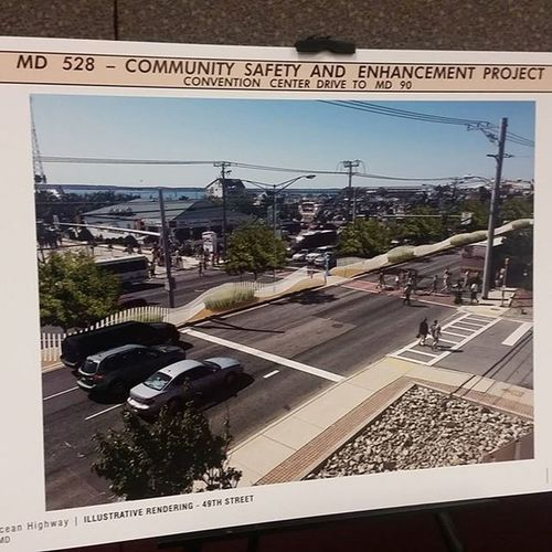 Design for the proposed median fencing for Coastal Hwy, displayed at this evening's OC Town Hall meeting.... Oceancitycool OceanCity Maryland Ocmd Loveoc Tourworco