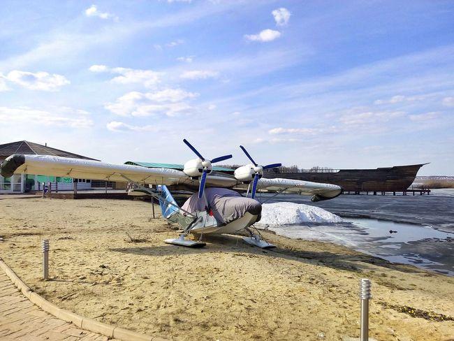 Plane Seaplane Beach Snow Beach