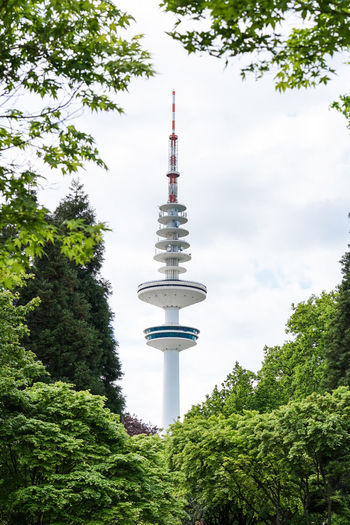 Hamburg Fernsehturm / Tv Tower Architecture Building Exterior Built Structure City Cloud - Sky Communication Day Green Color Growth Low Angle View Nature No People Outdoors Plant Sky Tall - High Television Tower Tower Travel Destinations Tree