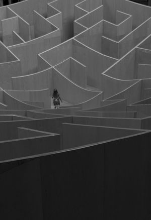 Running the Maze at the National Building Museum Architecture Building Built Structure Child Close-up Day Design Geometric Shape Kid Low Angle View Mazda Maze Runner Modern Monochrome Nature No People Repetition