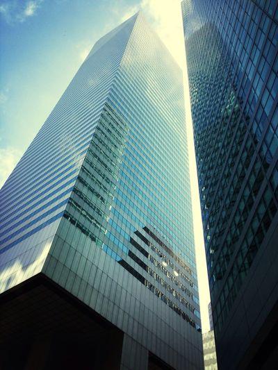 Skyscraper Sun Blue Sky