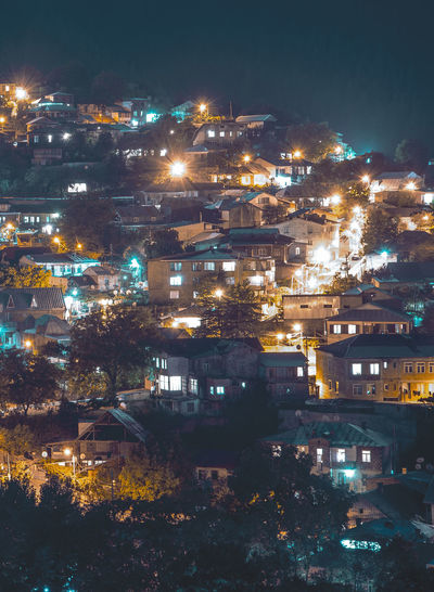 Building Exterior Architecture Built Structure Illuminated City Night Building Residential District High Angle View No People Nature Tree Cityscape Plant Outdoors Water Glowing Apartment TOWNSCAPE