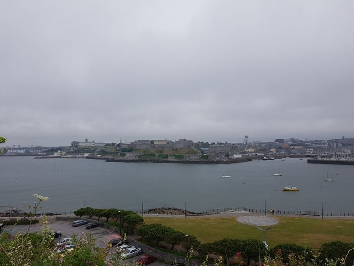 Plymouth skyline Skyline Cityscape Cityscape Sea Harbor Beach Point Of View Residential Building Town Urban Skyline Overcast