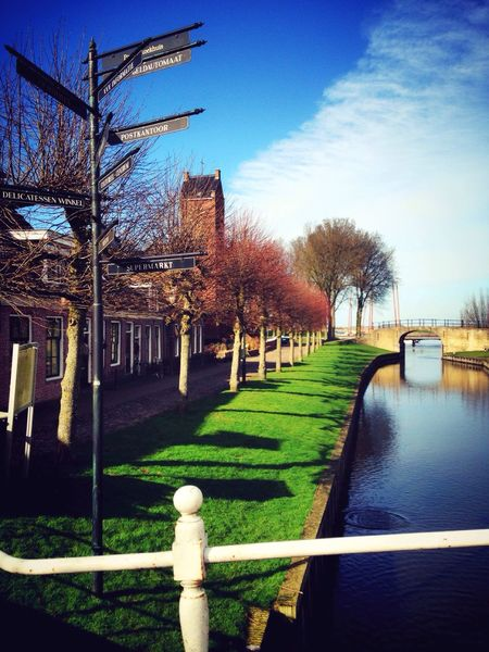 Tree Sky Built Structure Architecture Grass Building Exterior Outdoors Shadow Travel Destinations No People Dutch Landscape Streetphotography Winter 2017