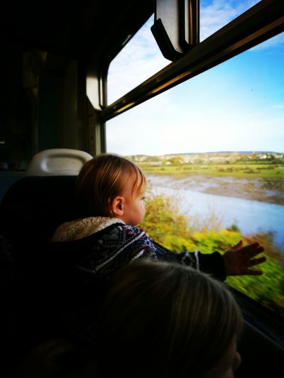 First Time On A Train One Person People Train Family Countryside River Kids Being Kids Journey Child Children Enjoy The New Normal Finding New Frontiers Long Goodbye BYOPaper!